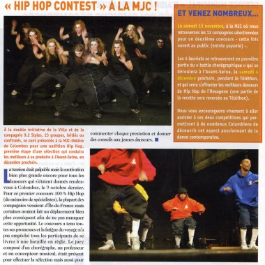 Hip Hop Contest presse 1